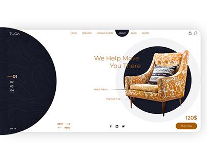 Tuga furniture web design