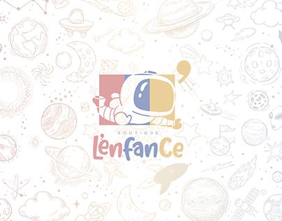 logotipo Loja de Roupa Infantil - Boutique L'enfance