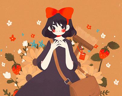 ghibli ladies&flowers