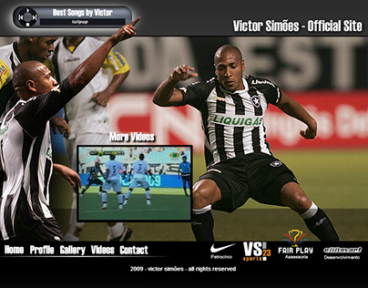 Website Design and Concept - Victor Simões