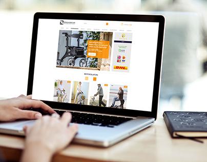 Rollatorwinkel website PC/Mobile versions