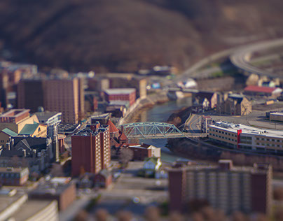 """Tiny Johnstown"" - Tilt-shift Photography Project"
