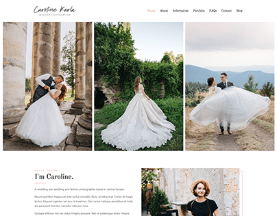 CKARLA - Minimal Wedding Photography Template