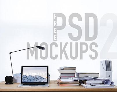 FREE iMac & MacBook Mockups PSD