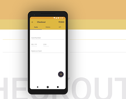 Checkout - Android Material Design