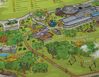 O'Reilly's Rainforest Retreat Map