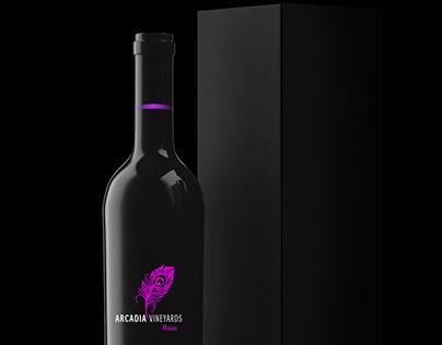 ARCADIA VINEYARDS Wine desing.