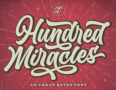 Hundred Miracles - Urban Retro Font