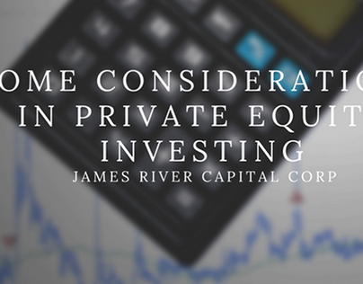 Some Considerations in Private Equity Investing by JRCC