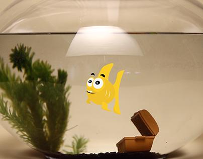 Goldfish victim of plastic