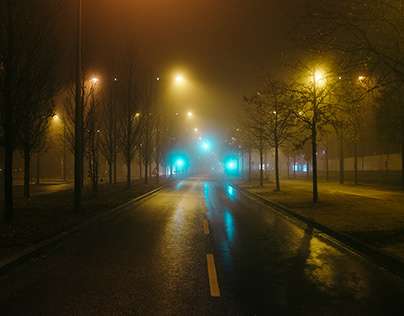 A foggy night in Luxemburg