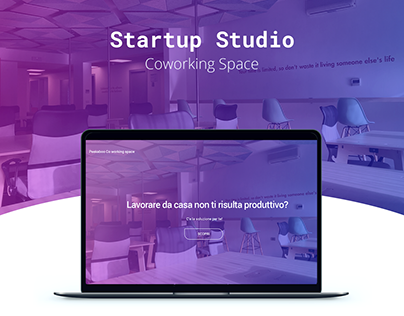 Startup Studio - Coworking space - Landing page
