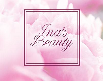 Ina's Beauty logo design
