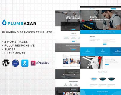 Plumbazar - Plumber Service WordPress Theme