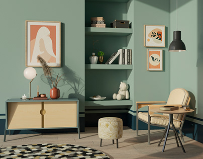 Furniture visualization in the interior