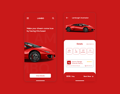 Car 360 rotation UI/UX design