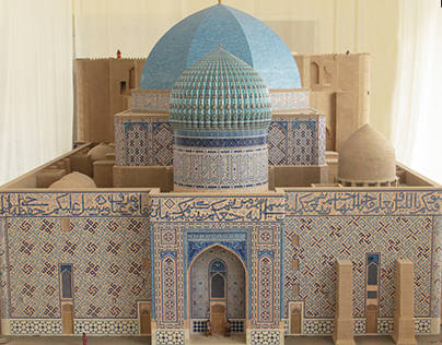 Mausoleum Of Khoja Ahmed Yasawi (model)
