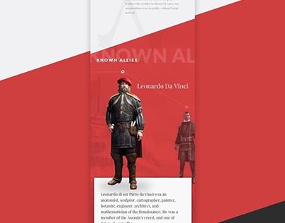 Visual Design Exercise : Ezio Auditore ( A profile )