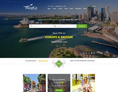 TravelCo - Multipurpose Agency PSD Template