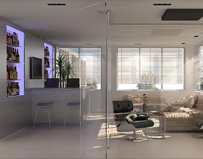 Office lounge-bar design