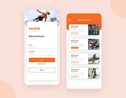 Fitness Event Management App Design