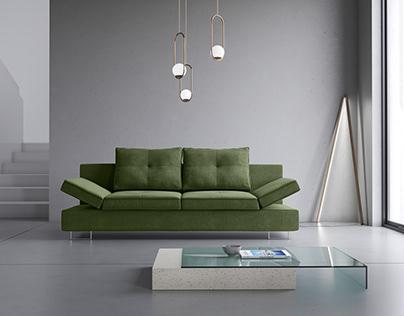 Zircon Sofa3D Model + Interior renders + Packshots