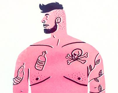 Mr. Tatty Man (Screen Print)