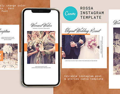 Rossa Canva Instagram Post and Stories Template