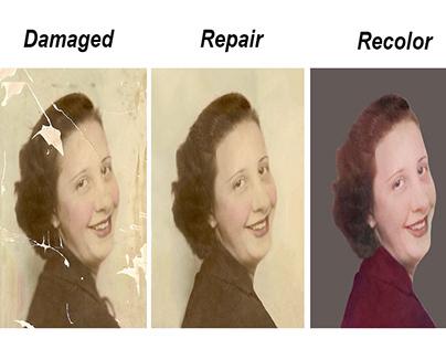 Photo Restoration/Repair & Recolor