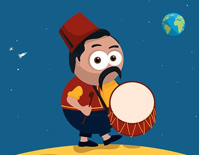 Ramadan Drummer on the Moon