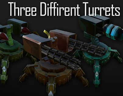 Hand painted turrets