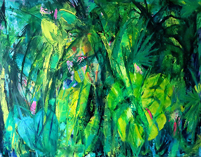 Green Utopia,oil on canvas,116/89 cm.