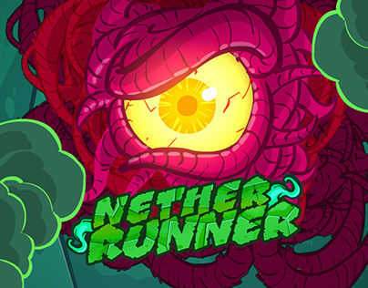 Nether Runner Flash Game | UI & concept