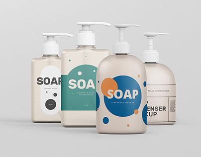 Soap Dispenser Mockup Bundle