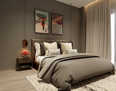 Warm tone bedroom
