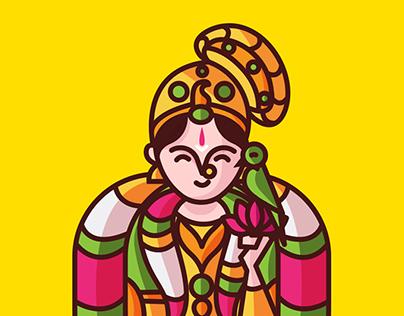 Desi Gods' Iconography by SCD Balaji