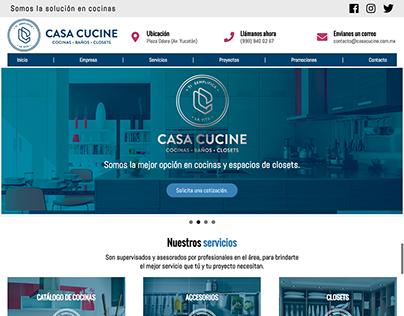 Diseño de sitio web para empresa de cocinas integrales.