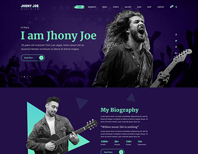 Musiziya - Music Band & Musician PSD Template