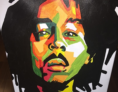 [Painting] Low-Poly Bob Marley (2015)