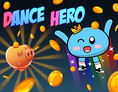 Dance Hero: Swipe to Dance! Animation and design.