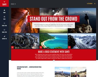 Santi - Blog/Magazine Wordpress Theme