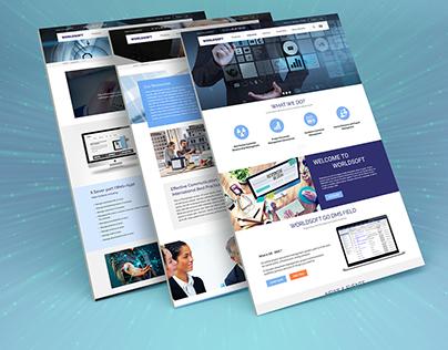 Redesign World Soft website company