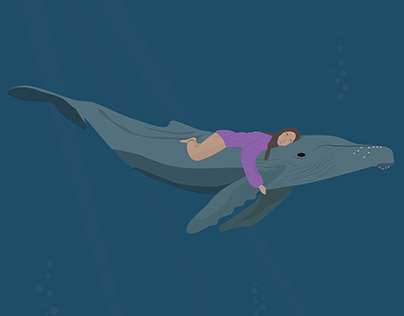 A whale taking care of me swimming across the pacific.