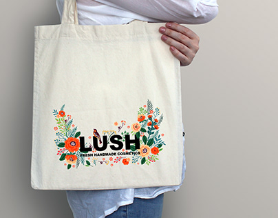 Canvas bag for LUSH