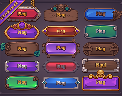 Fantasy Game Button Maker
