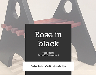 Rose in black