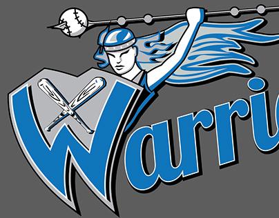 Warriors Softball Team Logo