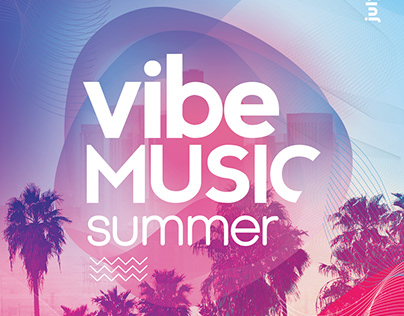 Vibe Summer Music PSD Flyer Template