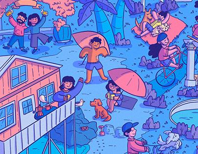 Chile en un dibujo