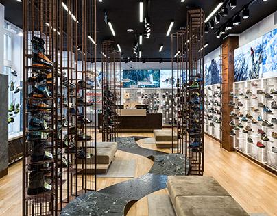 Outdoor shoe store interior